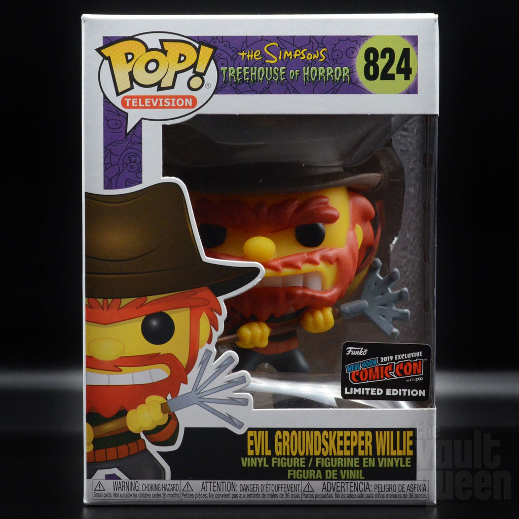 Funko Pop! Television The Simpsons Evil Groundskeeper Willie #824 NYCC 2019 Exclusive Pop! Funko
