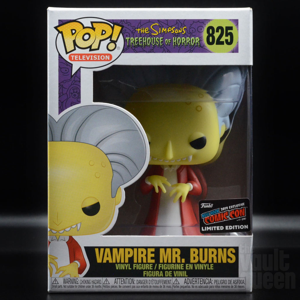 Funko Pop! Television The Simpsons Vampire Mr. Burns #825 NYCC 2019 Exclusive Pop! Funko