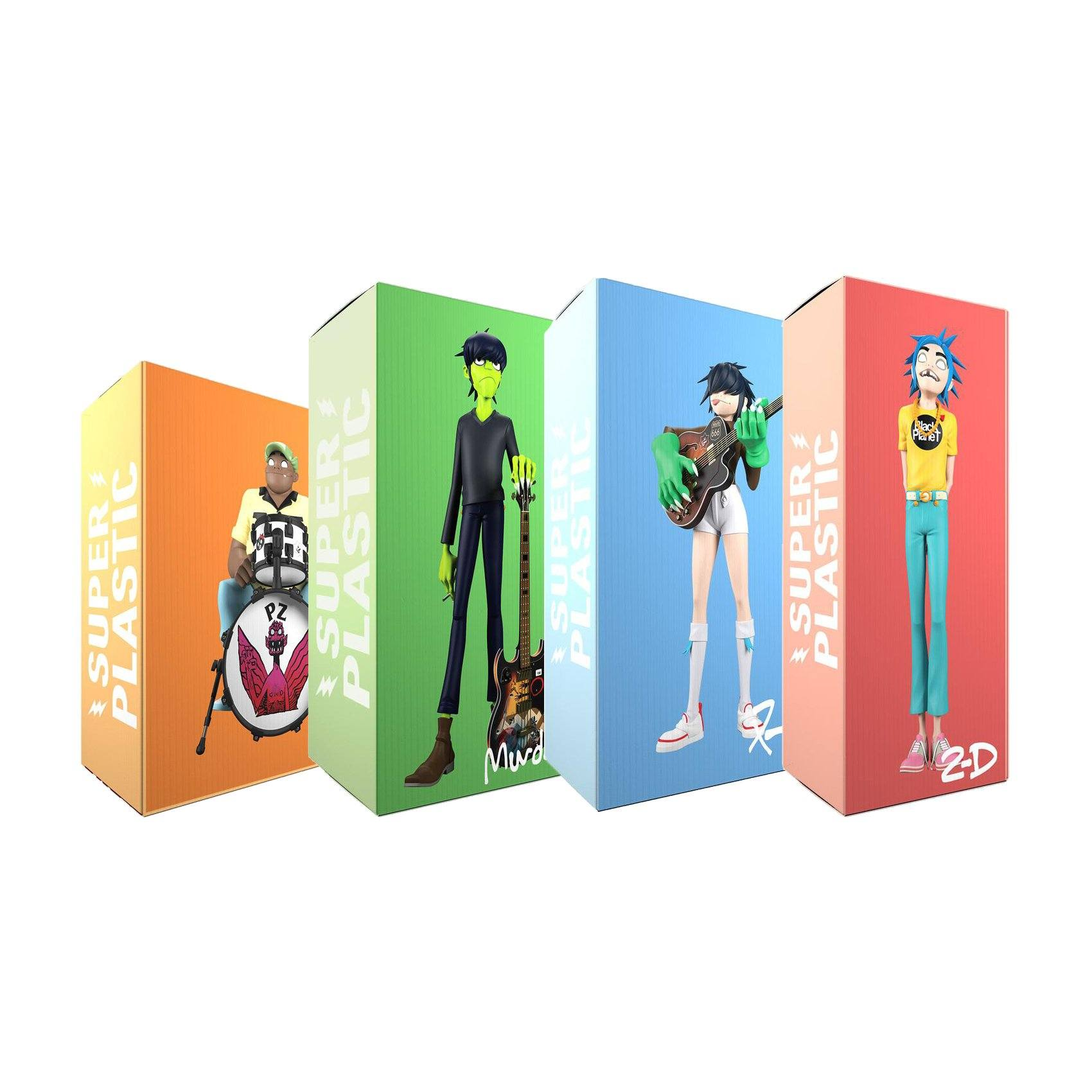 Gorillaz Song Machine Band [FULL SET OF 4 FIGURES] by Superplastic 13-inch Vinyl Figure Superplastic