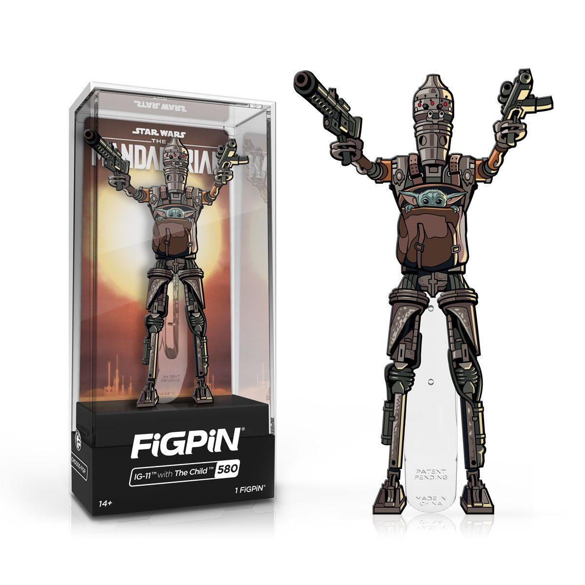 IG-11 with The Child #580 Star Wars: The Mandalorian FiGPiN Classic [PRE-ORDER] FiGPiN Classic FiGPiN