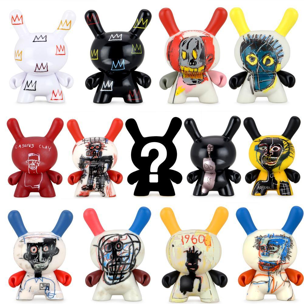 Jean-Michel Basquiat Faces 3-inch Dunny Blind Box Mini Series by kidrobot Blind Box kidrobot Sealed Case of 20
