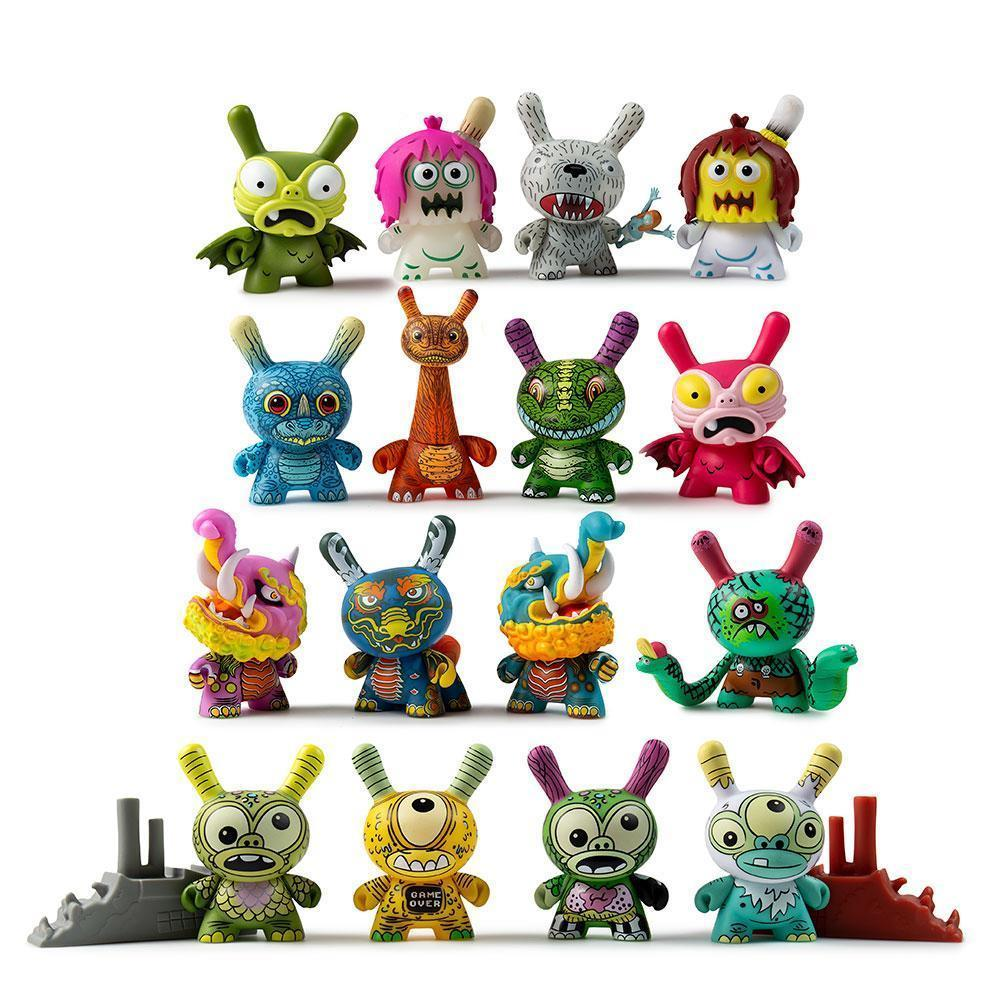 Kaiju Dunny Battle Series Blind Box Mini by kidrobot Blind Box kidrobot Sealed Case of 24