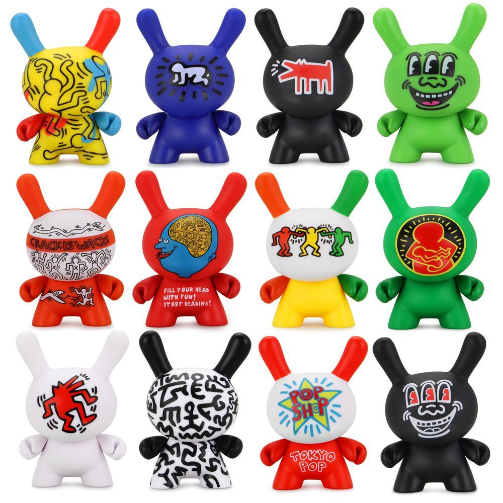 Keith Haring Dunny Blind Box Mini Series by kidrobot Blind Box kidrobot Sealed Case of 20