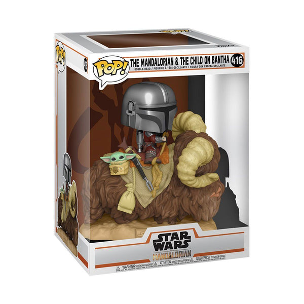 Mando on Bantha with Child in Bag The Mandalorian #416 Star Wars Funko POP! Deluxe Pop! Deluxe Funko