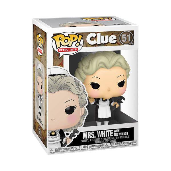Mrs. White with Wrench #51 Clue Funko POP! Retro Toys [PRE-ORDER] Pop! Funko