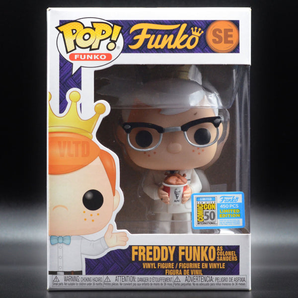 MYSTERY BOX: SDCC Grail Hunt [SHIPS 08/04] Prizes include Freddy as Colonel Sanders, Freddy as Pennywise, Blue Chrome Batman, Louie Bloo, Blue Chrome Freddy, Golden Frieza & many more! Mystery Box VLTD