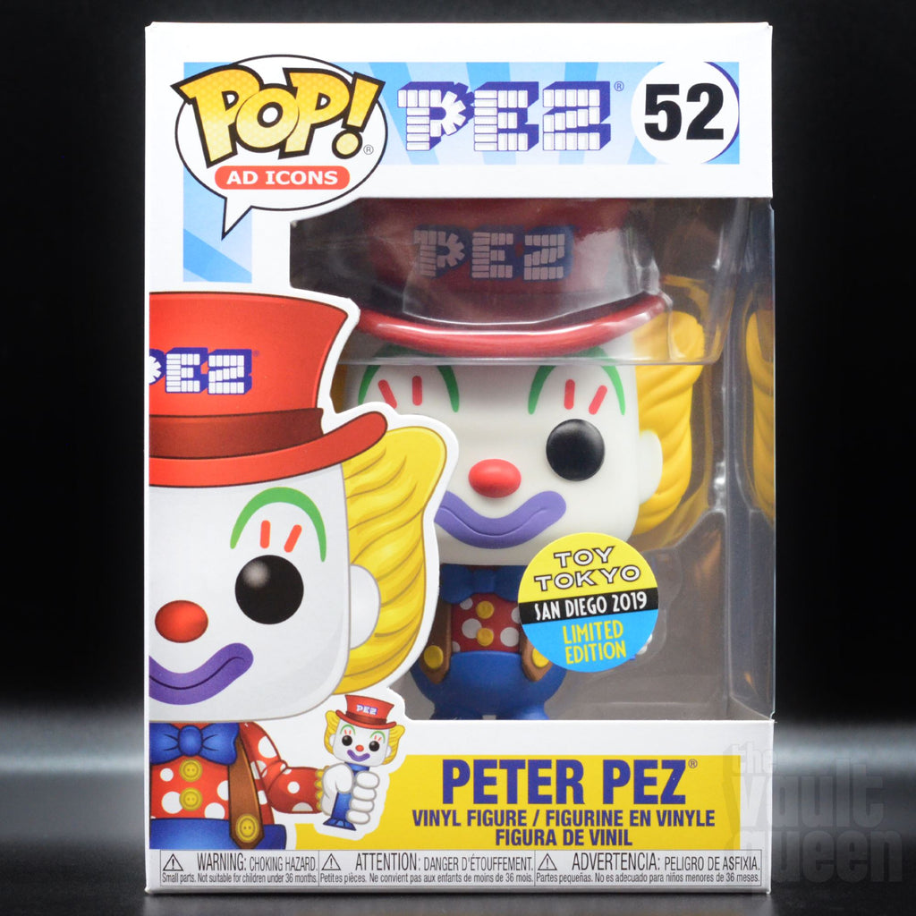 Peter Pez #52 SDCC 2019 Toy Tokyo Exclusive Funko Pop! Ad Icons Pop! Funko