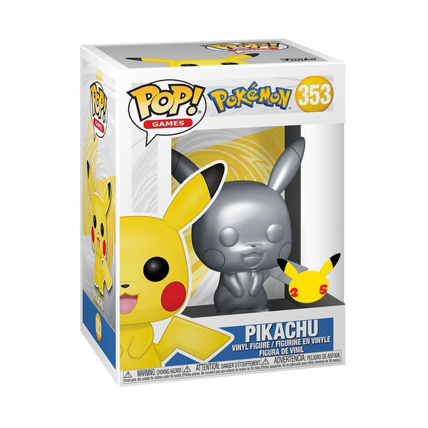 Pikachu #353 (Silver Metallic) Pokemon Funko POP! Games [PRE-ORDER FOR MAR 2021* DELIVERY] POP! Funko