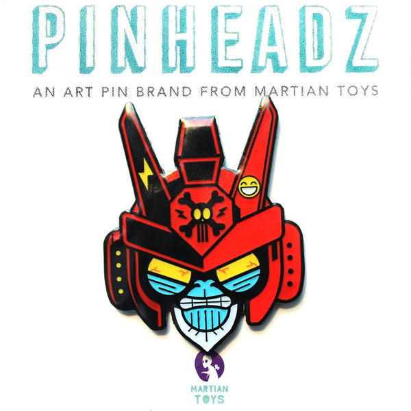 Pinheadz - Bunka Design - Breakaway Masks - Red Face Pinheadz Martian Toys