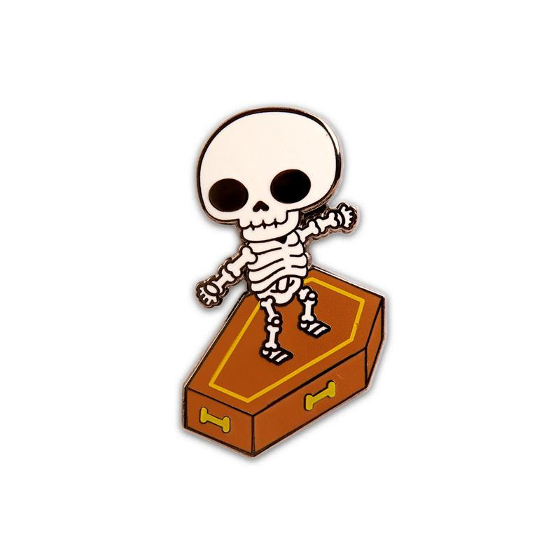 Skull Surfer Enamel Pin by 100% Soft Enamel Pin 100% Soft