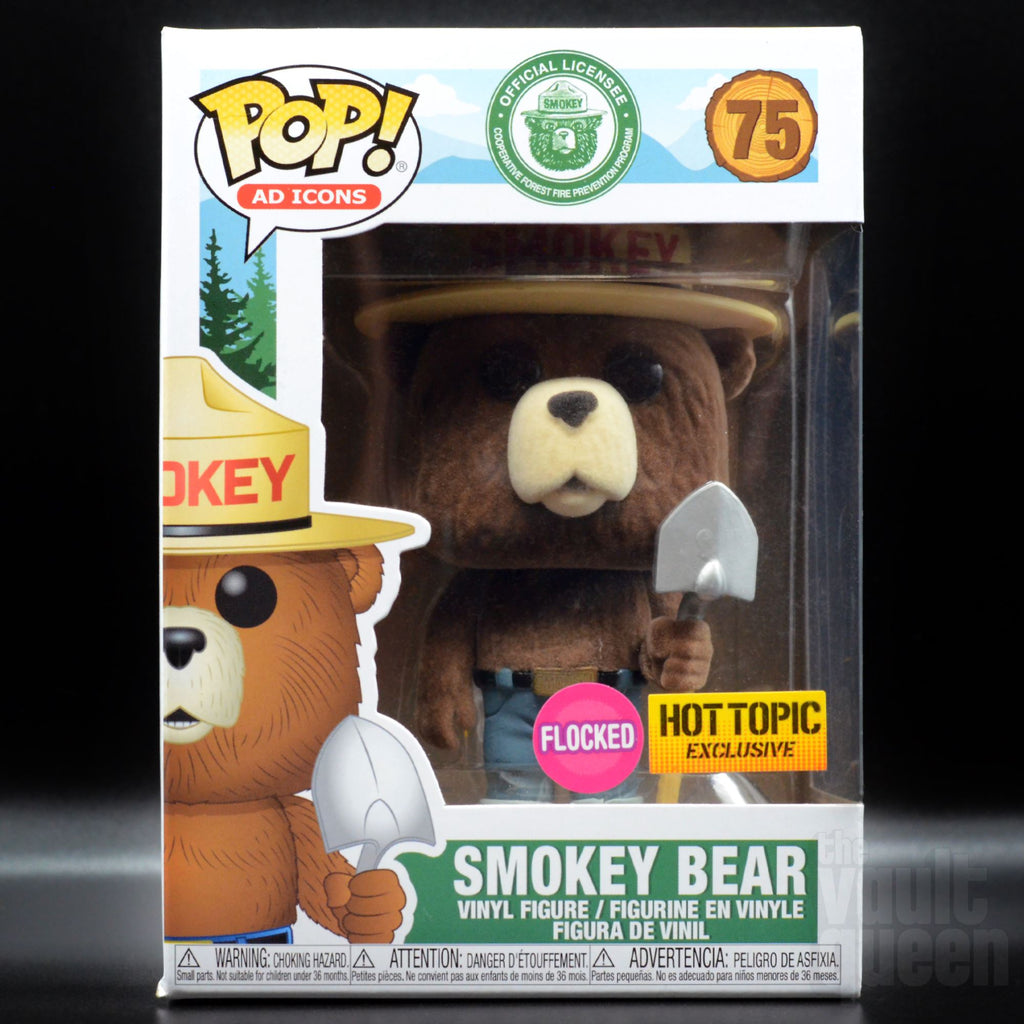 Smokey the Bear #75 (Flocked) Hot Topic Exclusive Funko POP! Ad Icons Pop! Funko