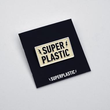 Superplastic Logo Enamel Pin by Superplastic Enamel Pin Superplastic