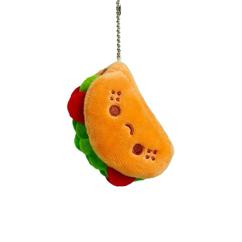 Taco Plush Charm by 100% Soft Plush 100% Soft