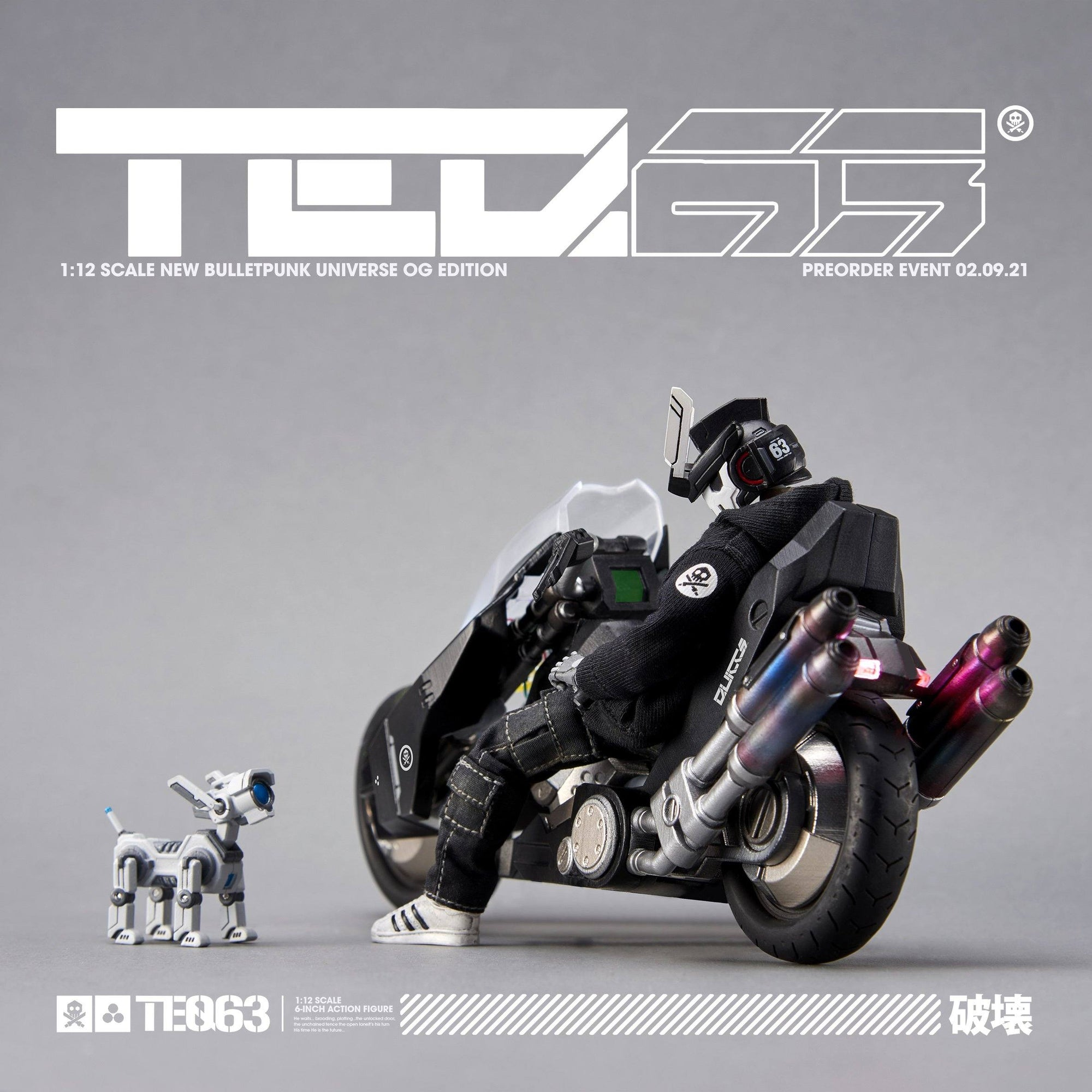 TEQ63 1:12 Scale Action Figure Deluxe Set - OG Black Edition - by Quiccs x Devil Toys 1/12 Scale Action Figure Devil Toys