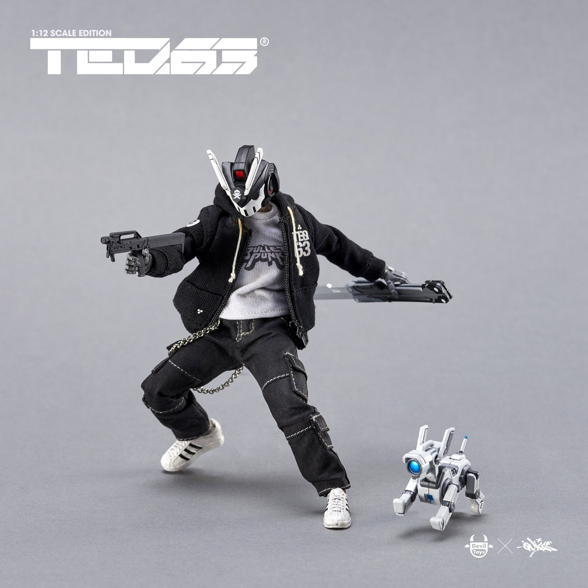TEQ63 1:12 Scale Action Figure Standard Set - OG Black Edition - by Quiccs x Devil Toys 1/12 Scale Action Figure Devil Toys