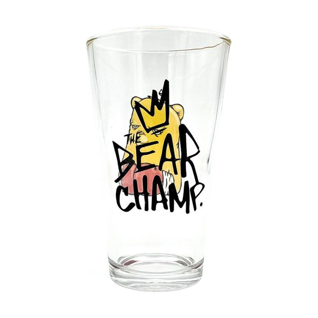 The Bear Champ OG Pose Pint Glass by JC Rivera and UVD Toys Glassware UVD Toys