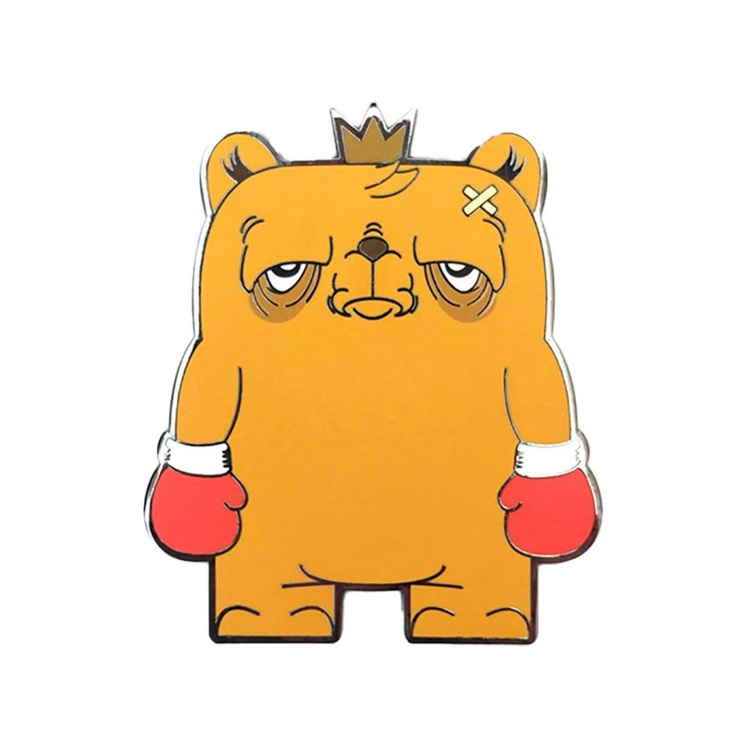 "The Bear Champ Standing Strong 3"" Enamel Magnet by JC Rivera and UVD Toys Magnet UVD Toys"
