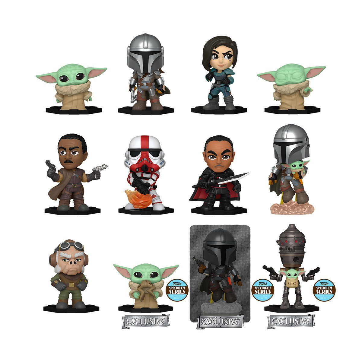 The Mandalorian Mystery Minis by Funko - Specialty Series Exclusive! [PRE-ORDER FOR FEB 2021* DELIVERY] Blind Box Funko
