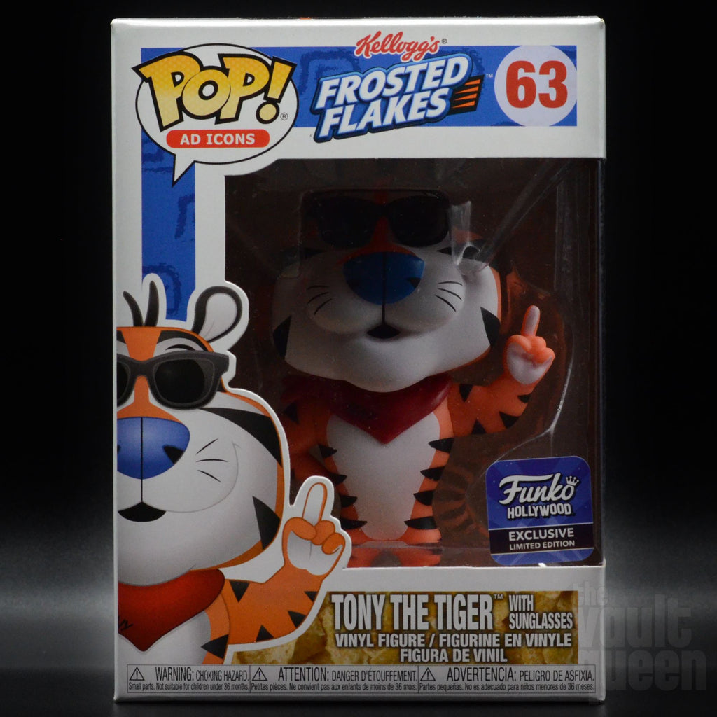 Tony the Tiger w/ Sunglasses #63 Funko Hollywood Grand Opening Exclusive Funko POP! Ad Icons Pop! Funko