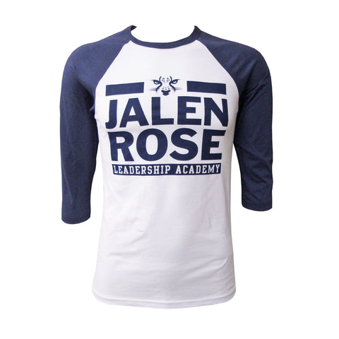 JRLA Baseball T-Shirt - White/Navy