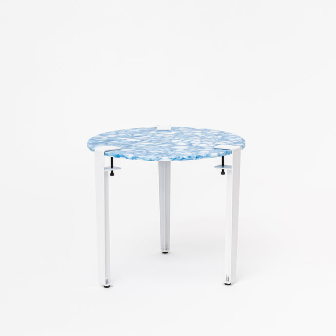 Round Table - Marbled Blue