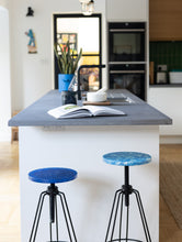 Load image into Gallery viewer, Bar Stool - Marbled Blue