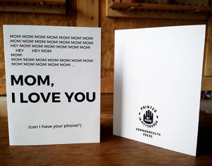 Mom, I Love You Card
