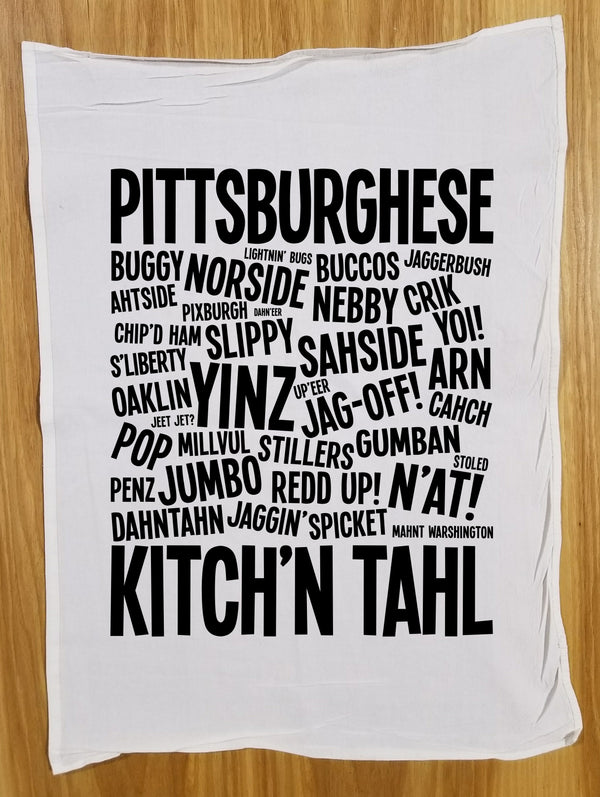 PITTSBURGHESE Tea Towel