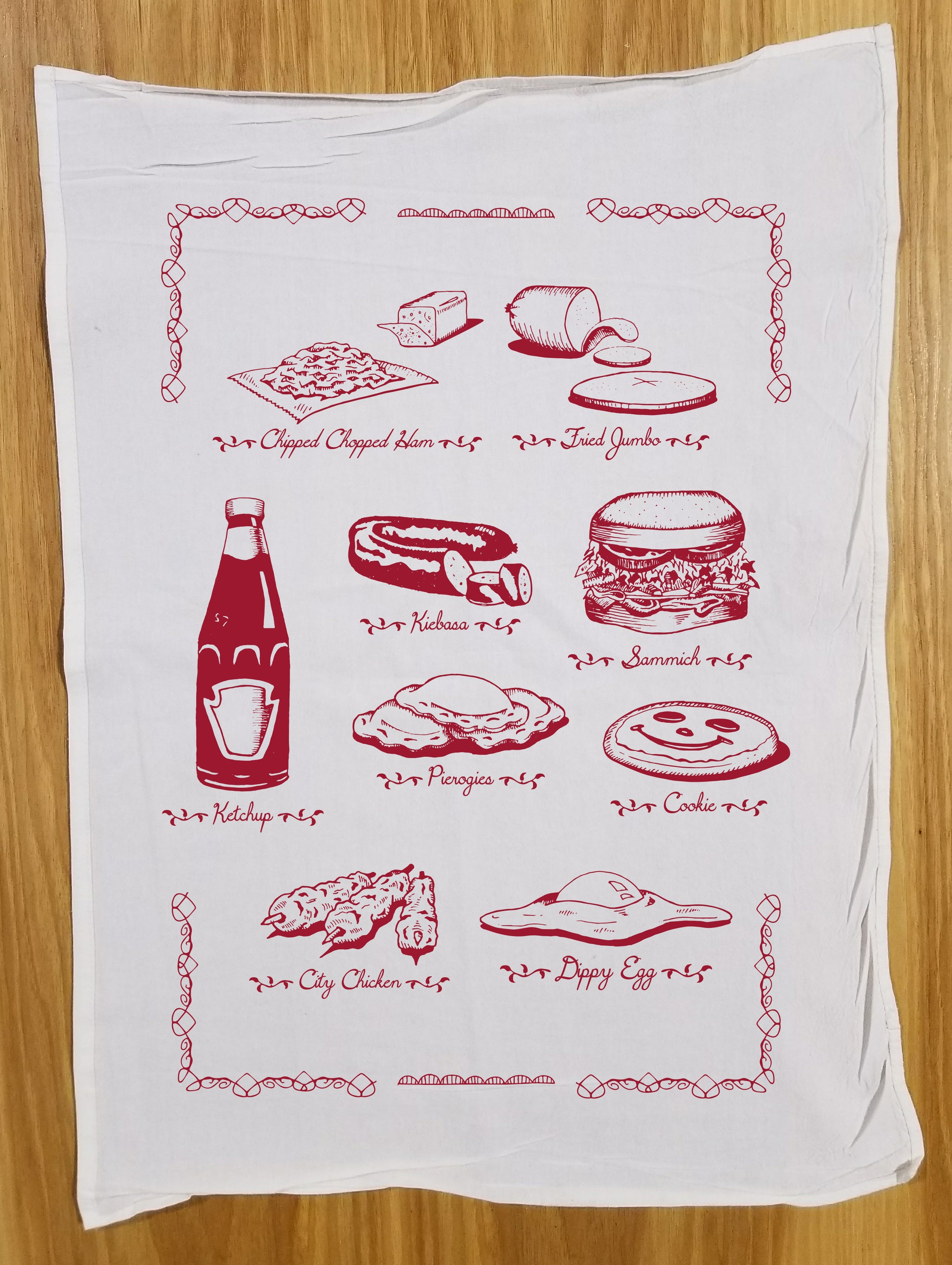Pittsburgh Foods Tea Towel
