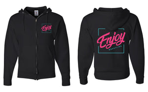 Enjoy Wrestling Logo Zip Up