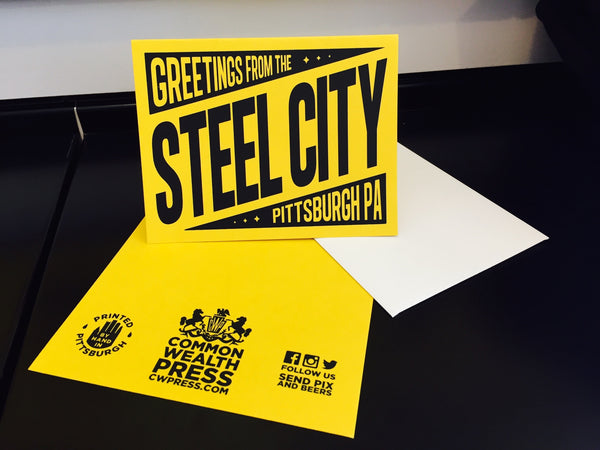 Greetings from the Steel City Greeting Card
