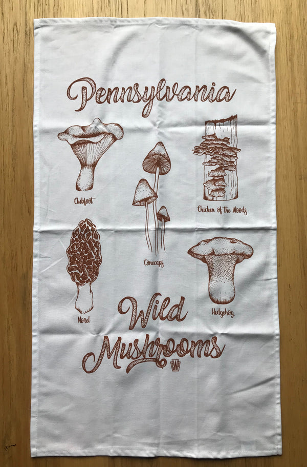 Pennsylvania Wild Mushrooms Tea Towel