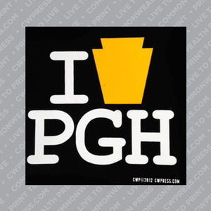 I Keystone Pgh Sticker
