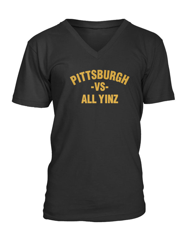 Pittsburgh vs All Yinz Ladies V-Neck