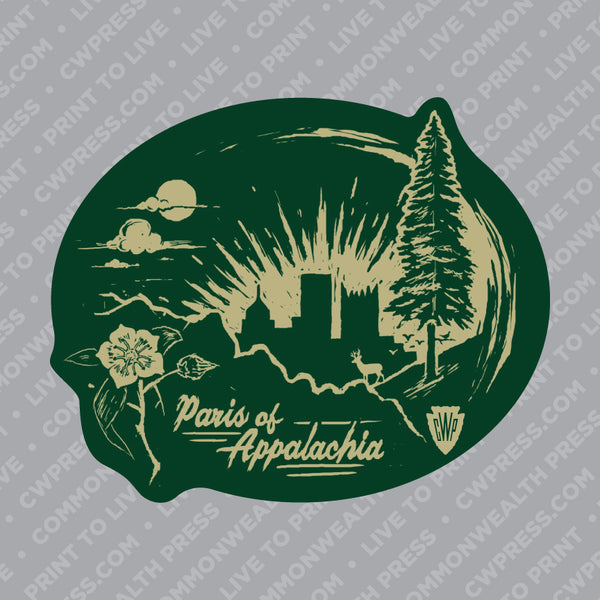 Paris of Appalachia Sticker