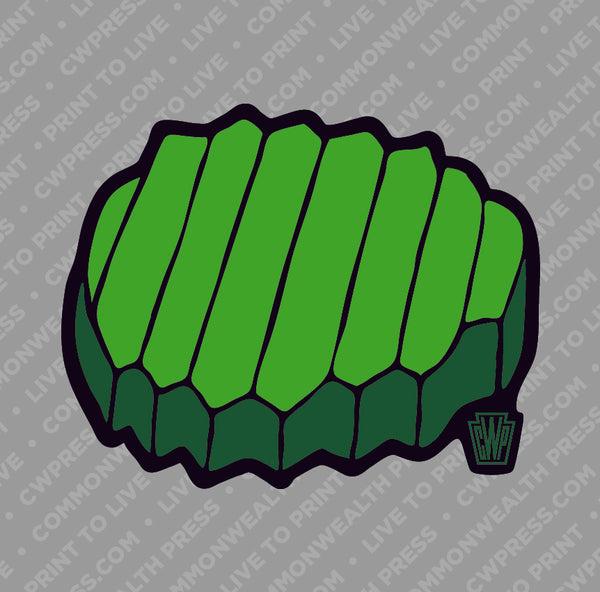 Pickle Chip Sticker