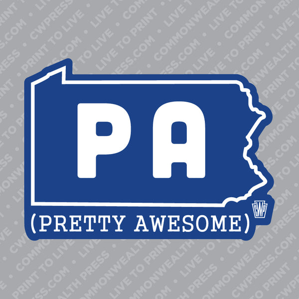 PA (Pretty Awesome) Sticker