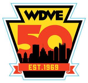 WDVE 50th Anniversary Sticker