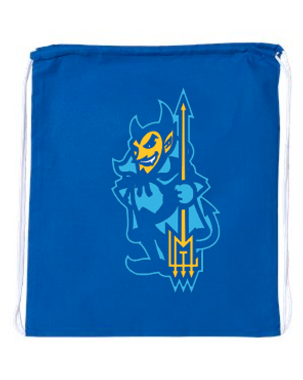 Blue Lou Drawstring Bag