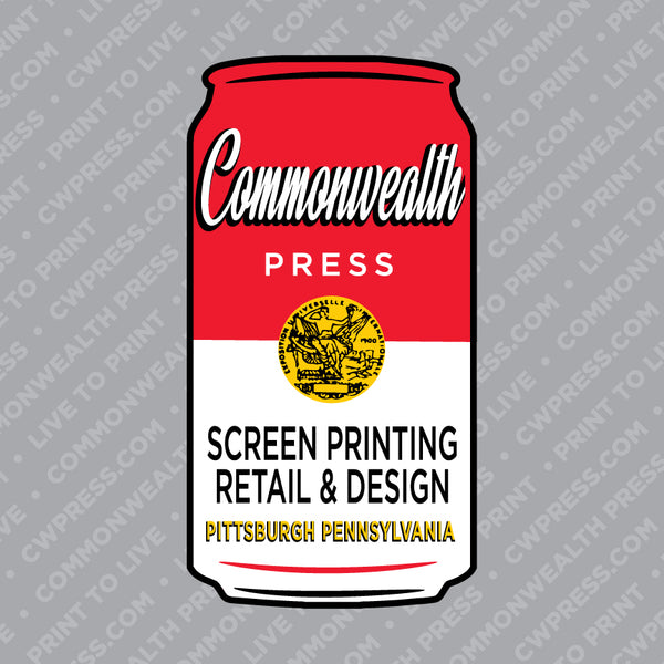 Commonwealth Press Soup Can Sticker