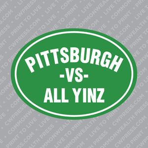Irish Pittsburgh VS All Yinz Sticker