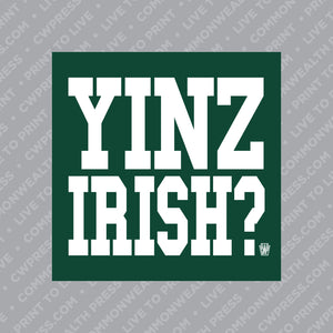 Yinz Irish Sticker