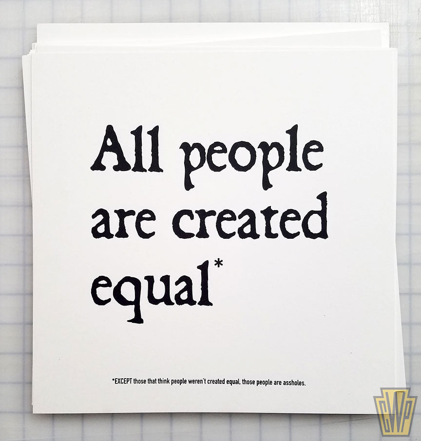 All people are created equal