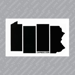 PA Black Flag Sticker