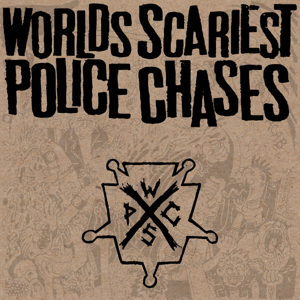 "Worlds Scariest Police Chases - Adolf Hipster 7"" Vinyl Record"