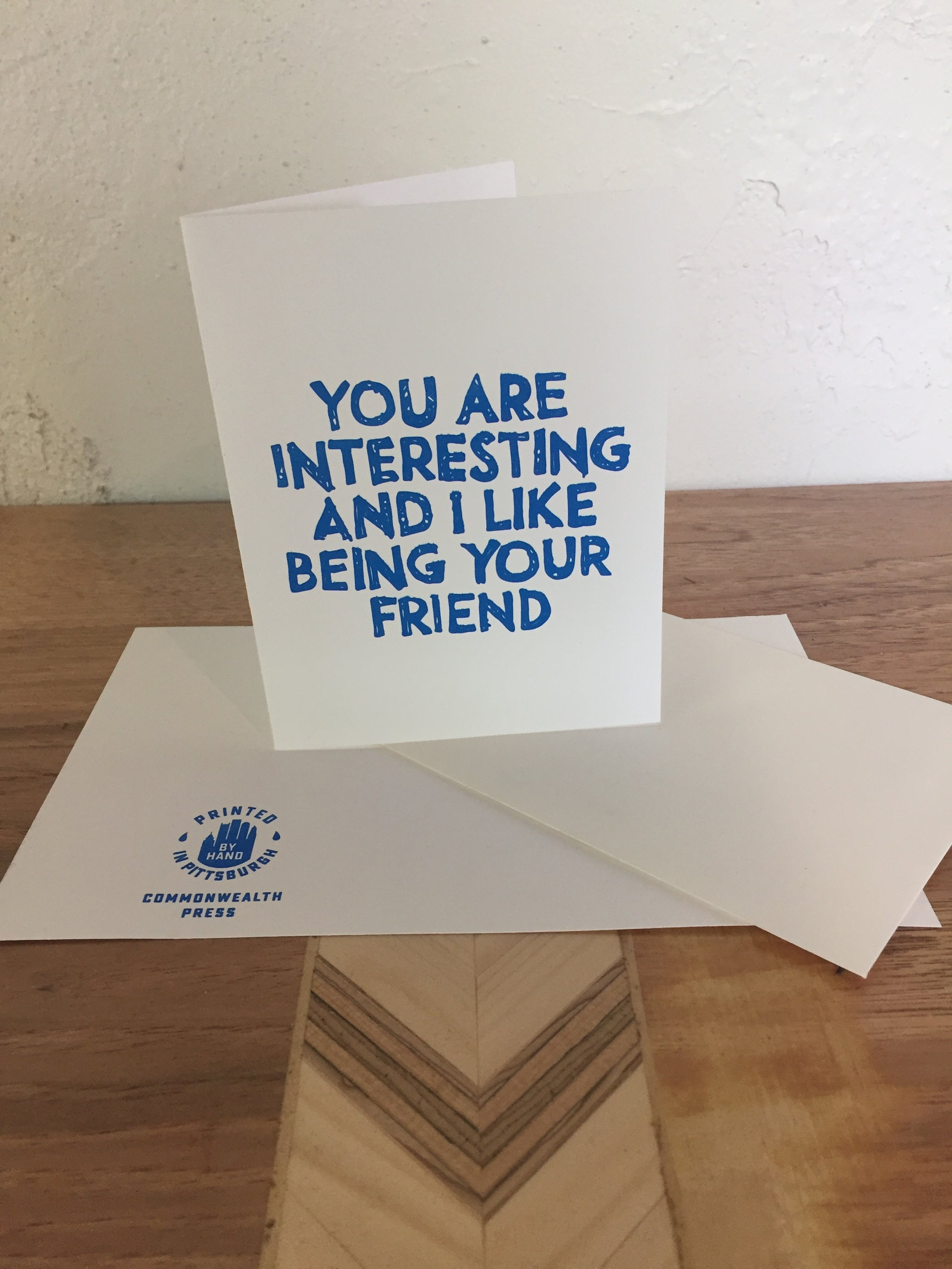 I Like Being Your Friend Card