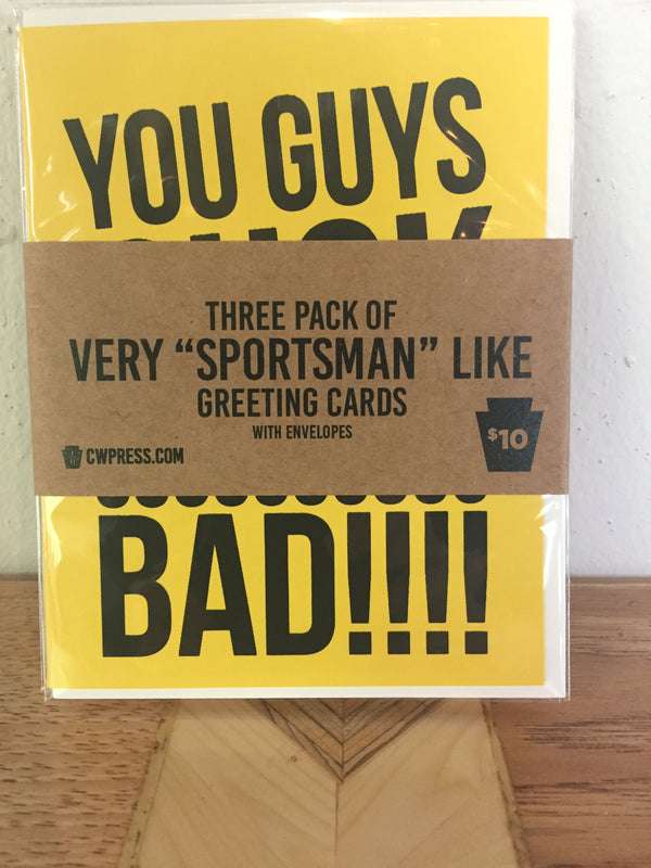 "Very ""Sportsman"" Like Greeting Card 3 Pack"