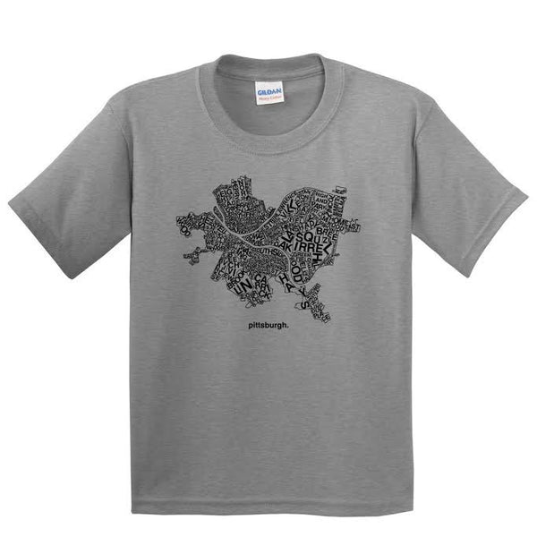 Pittsburgh Map Youth & Toddler T-shirt