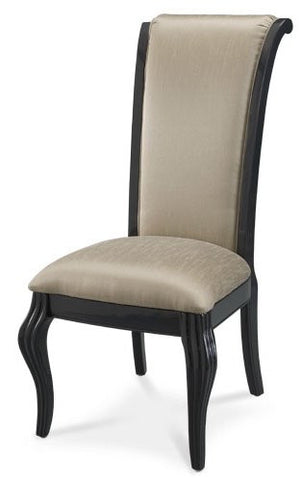 Hollywood Swank Side Chair (Set of 2) - Graphite by Aico