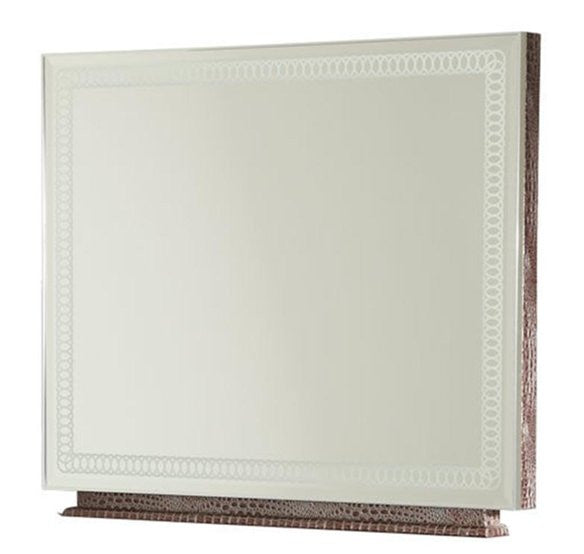 Hollywood Swank Rectangular Dresser Mirror- Amazing Gator by Aico